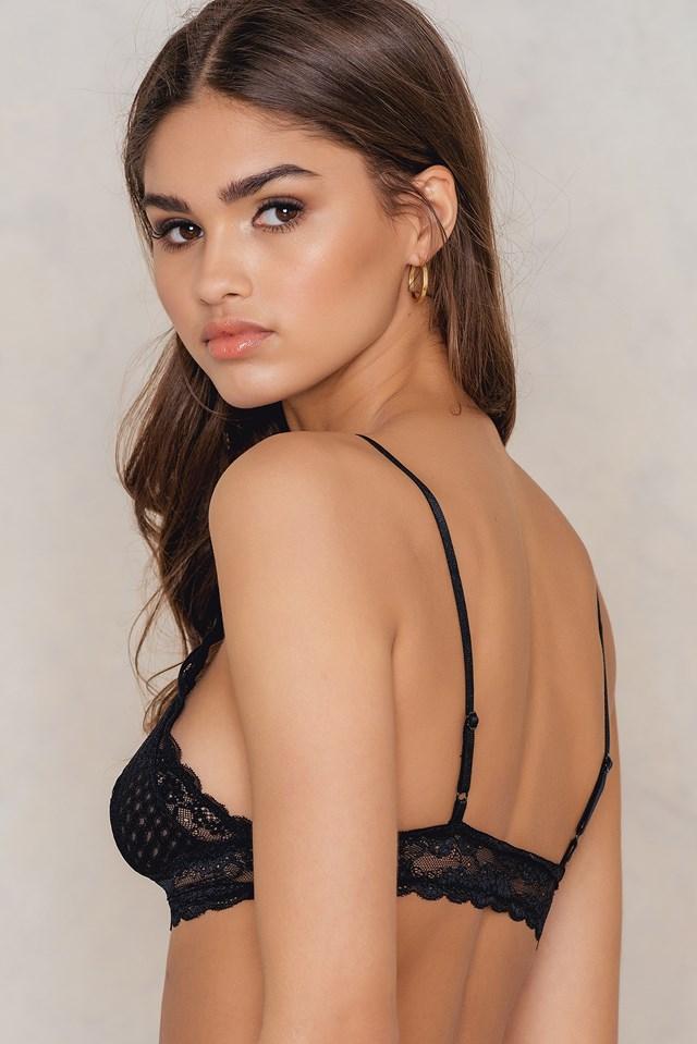 Lace Bralette Black