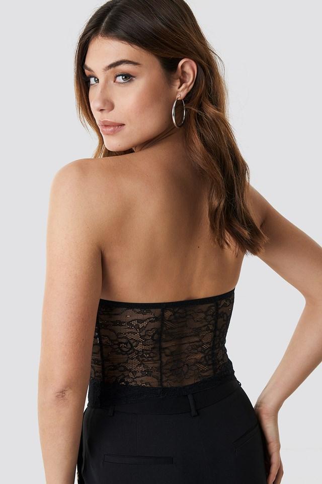 Lace Corset Top Black