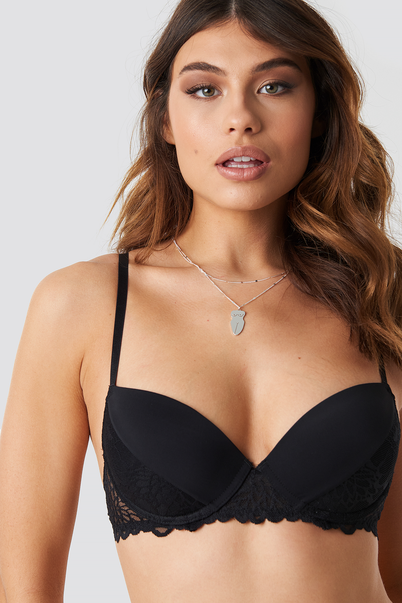 Lace Detail Padded Cup Bra NA-KD.COM