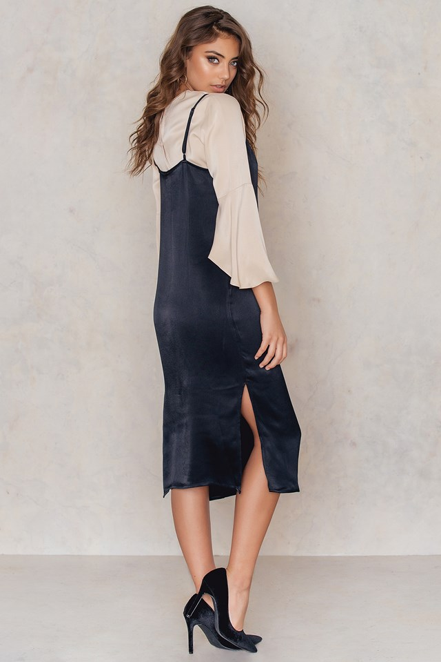 Lace Detail Slip Dress NA-KD.COM