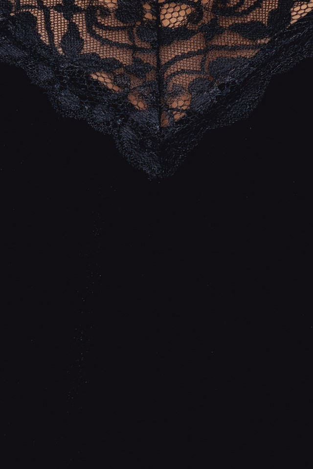 Lace Detail Velvet Singlet NA-KD.COM