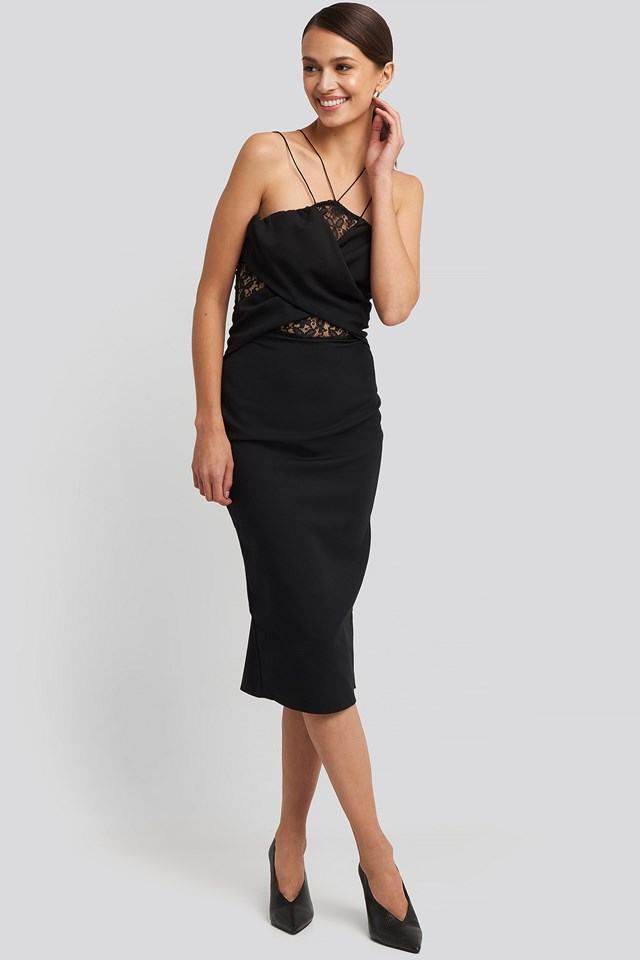 Lace Detailed Midi Dress Trendyol