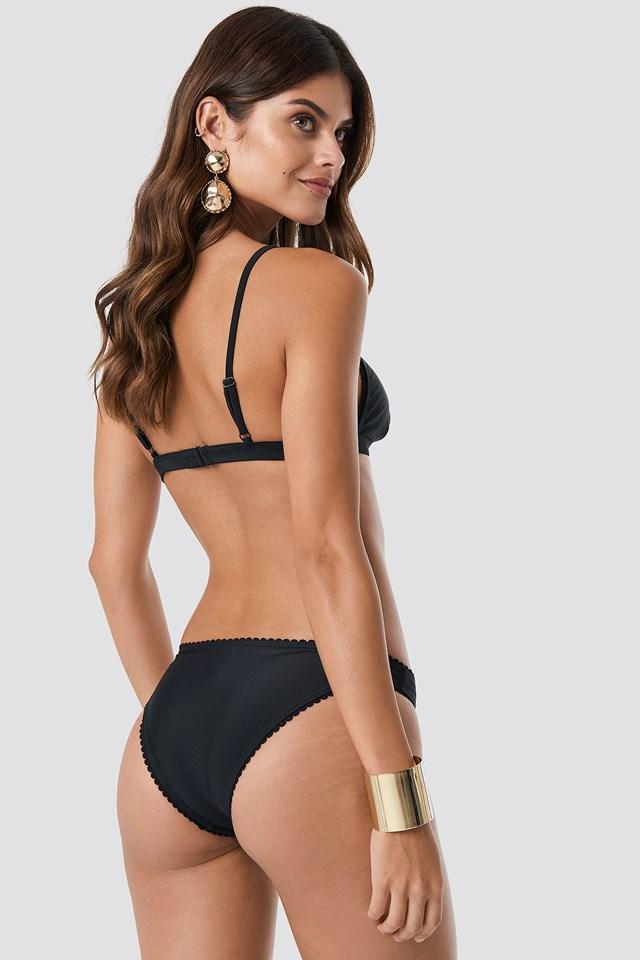 Lace Edge Bikini Top Black