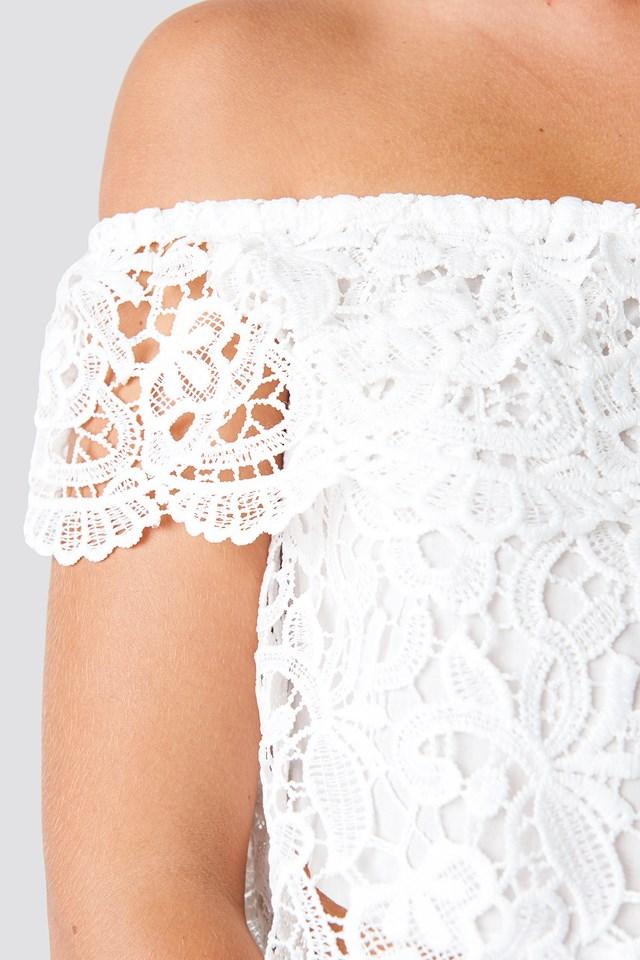 Lace Off Shoulder Top NA-KD.COM