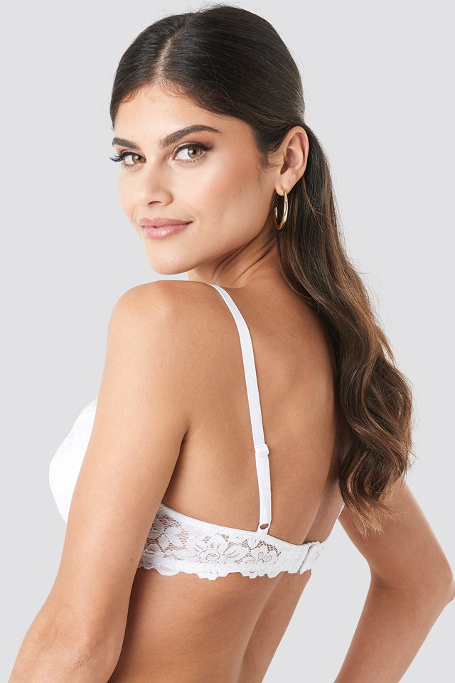 Lace Padded Cup Bra White