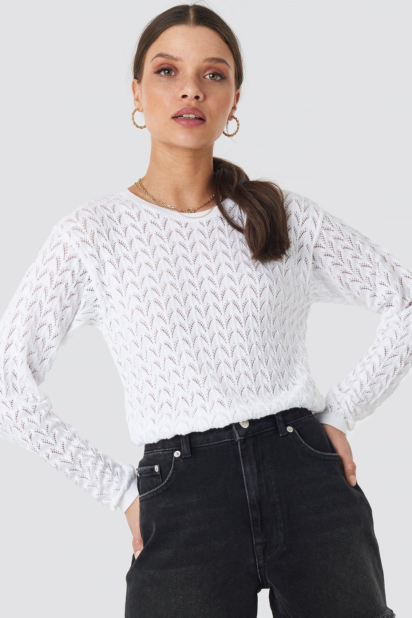 Lace Stitch Jumper NA-KD.COM