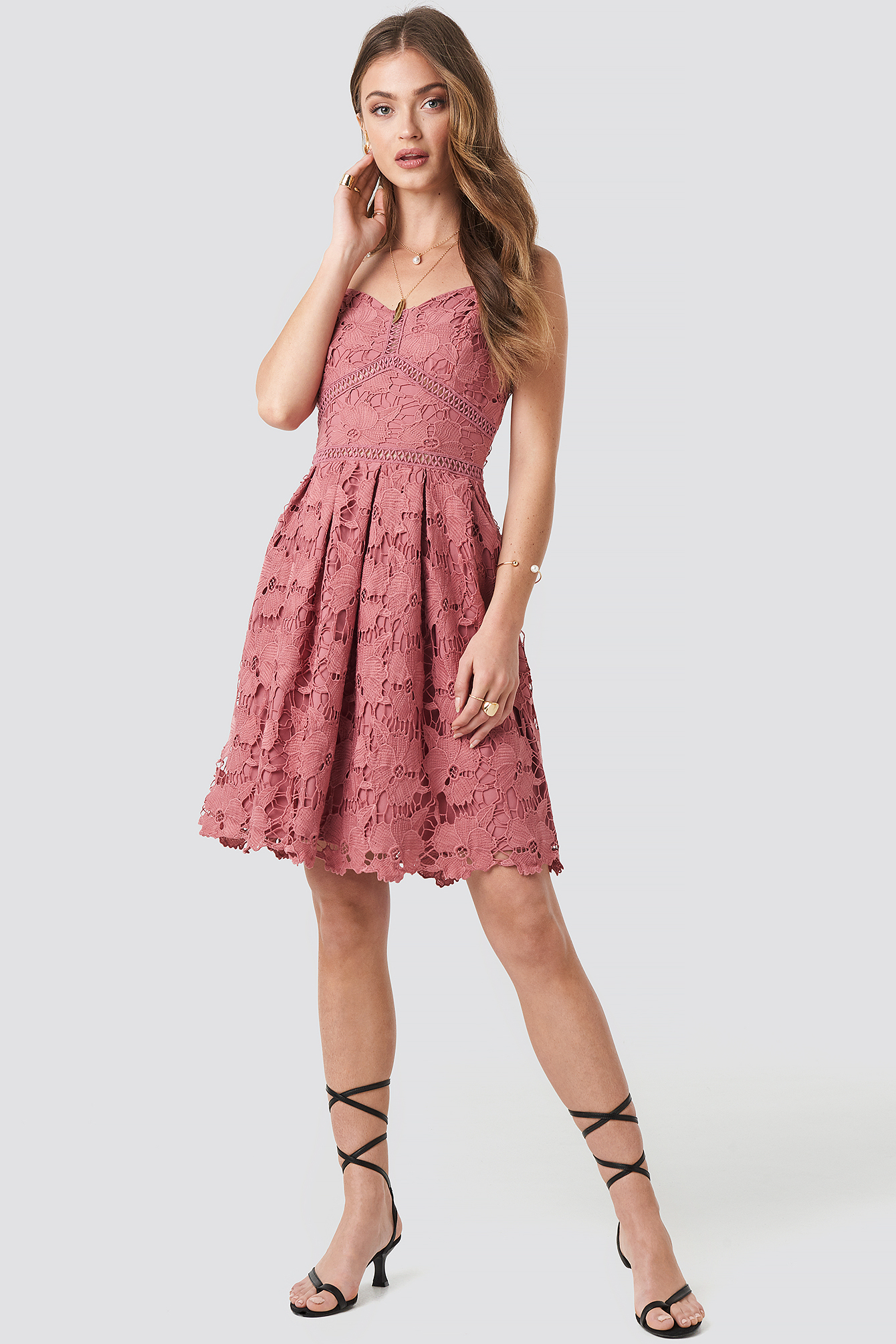 Lace Strap Dress NA-KD.COM