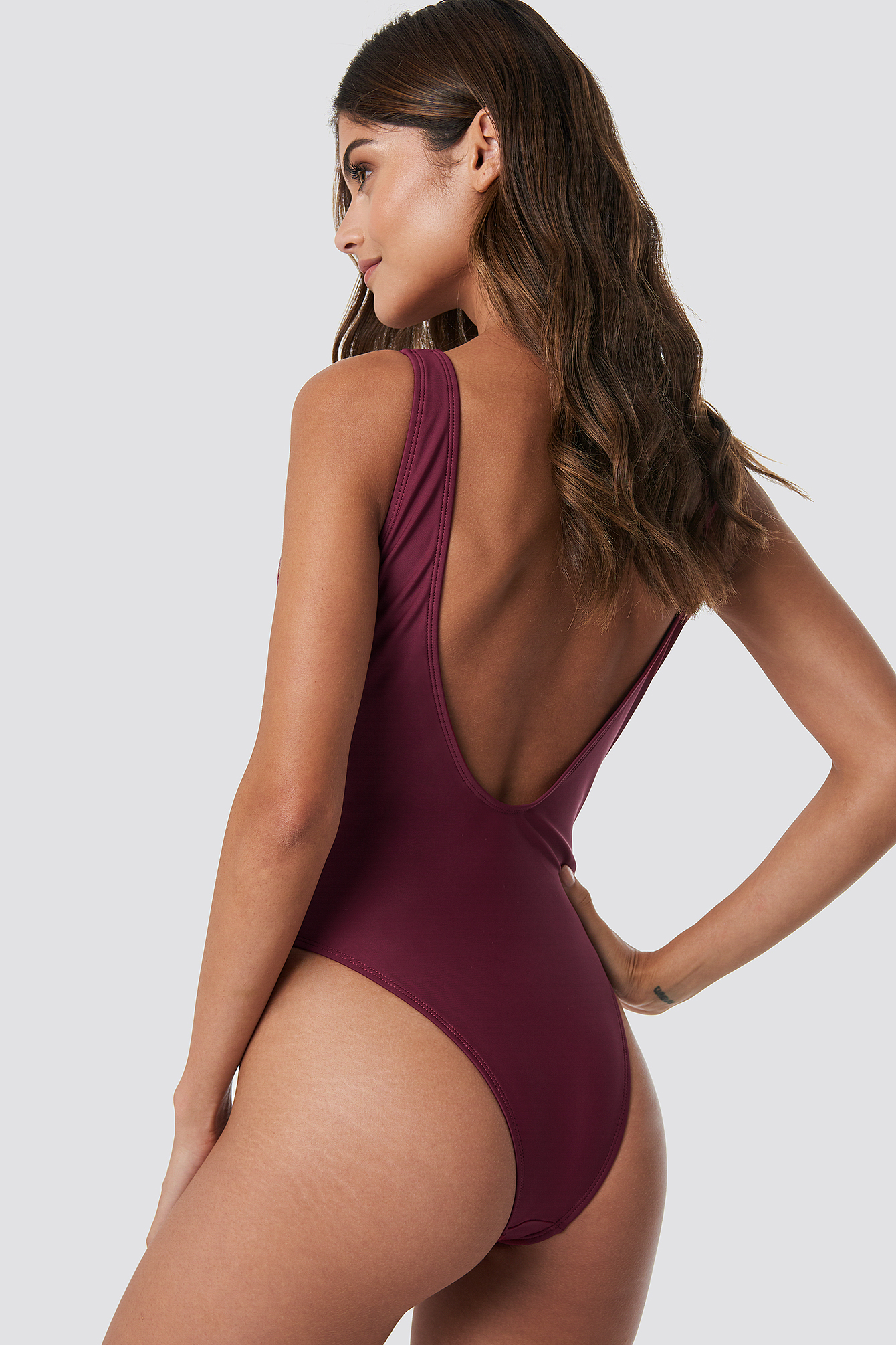 Lacing Waist Swimsuit NA-KD.COM
