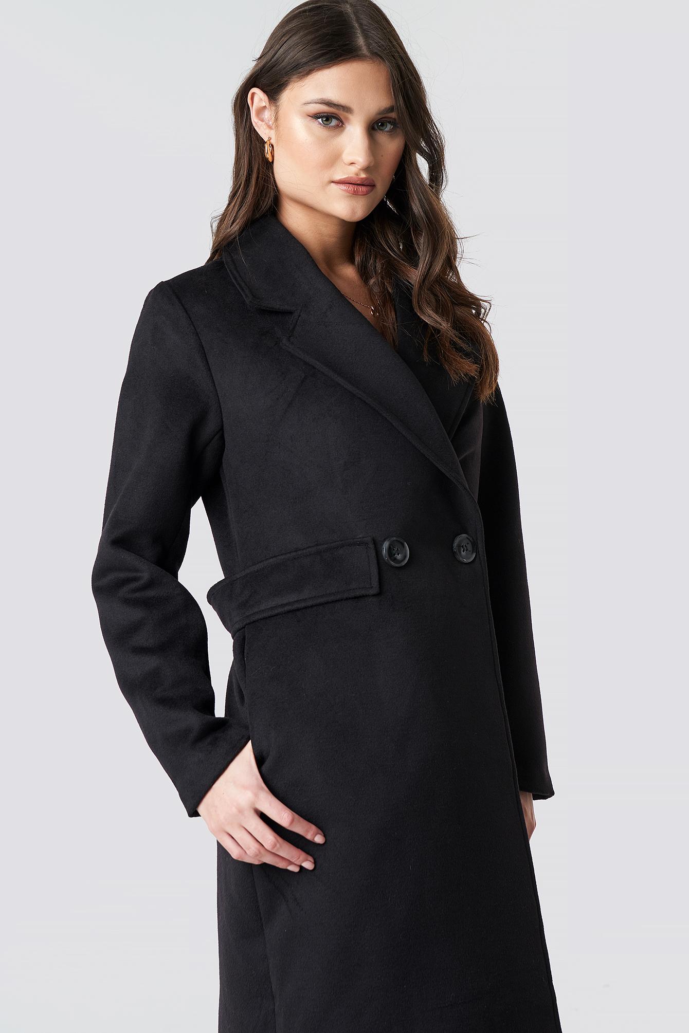 Lapel Collar Long Coat NA-KD.COM