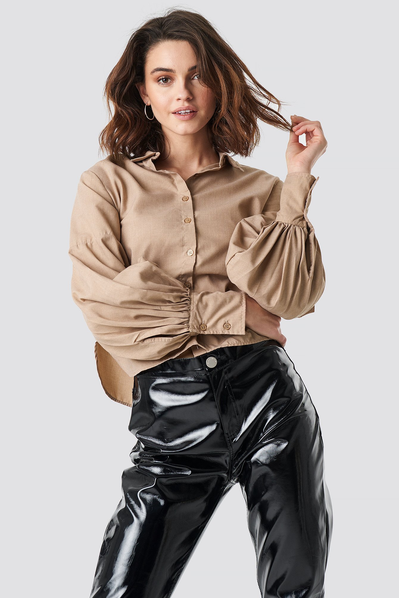 Large Cuff Wide Sleeve Shirt NA-KD.COM
