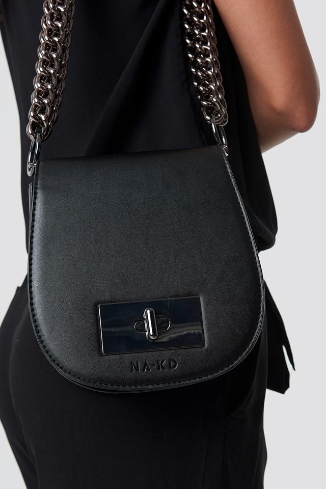 Layered Chain Bag Black