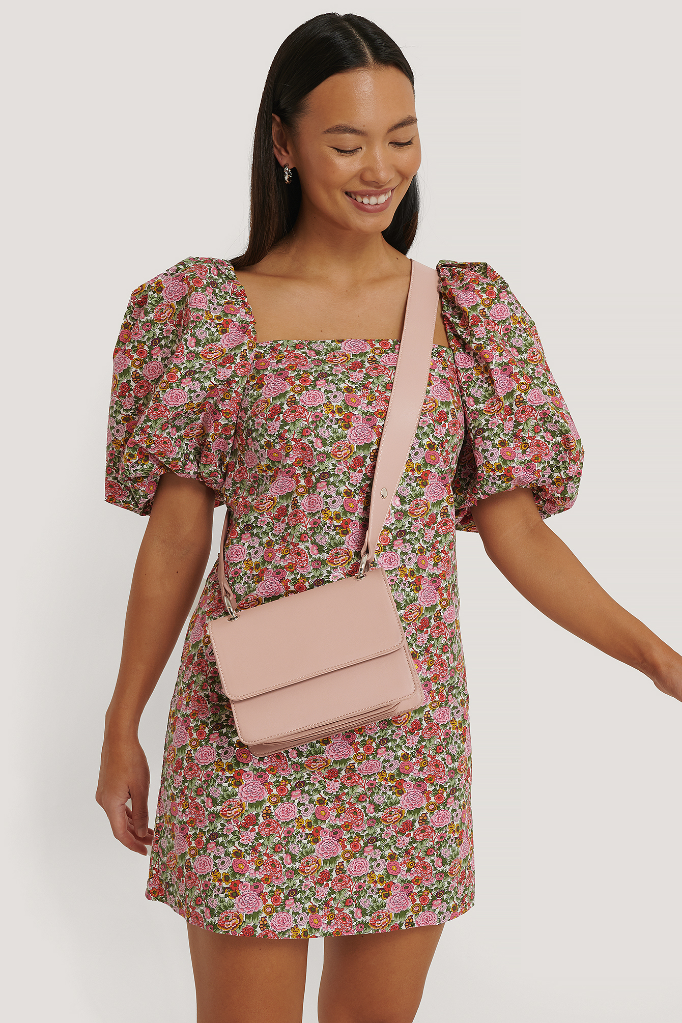 NA-KD Accessories Layered Compartment Shoulder Bag - Pink