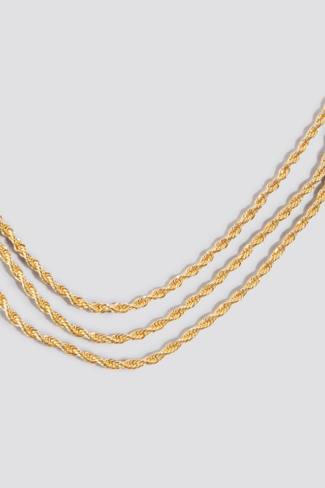 Layered Cordon Necklace Gold
