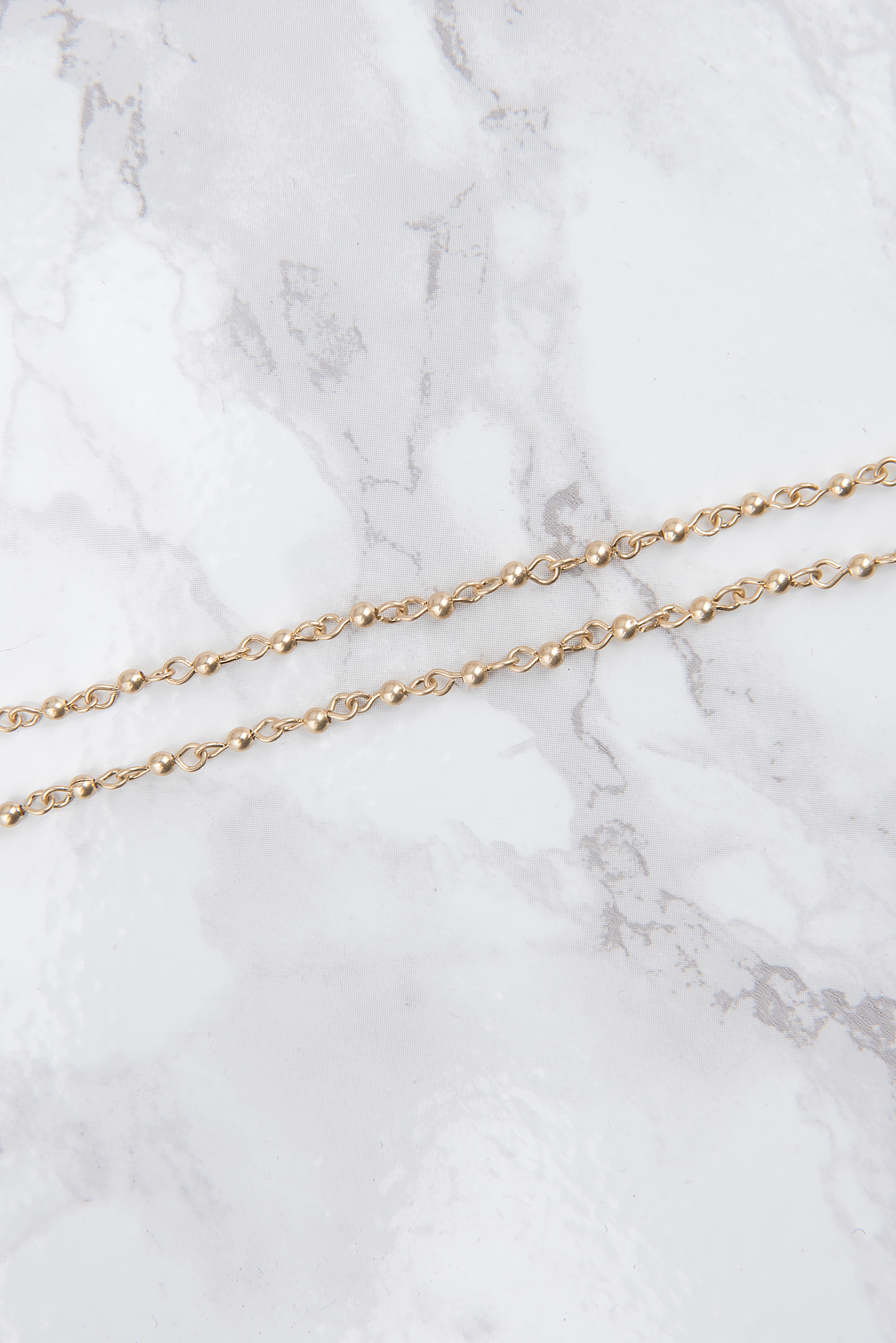 Gold Layered Dot Chain Necklace