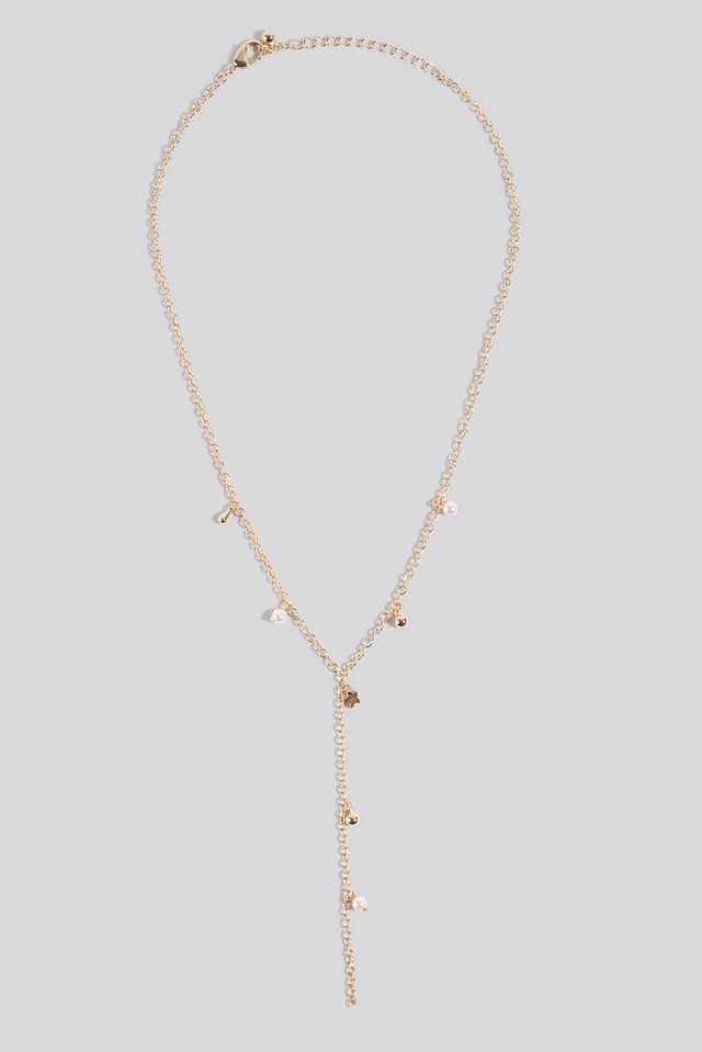 Layered Dropping Necklace Gold
