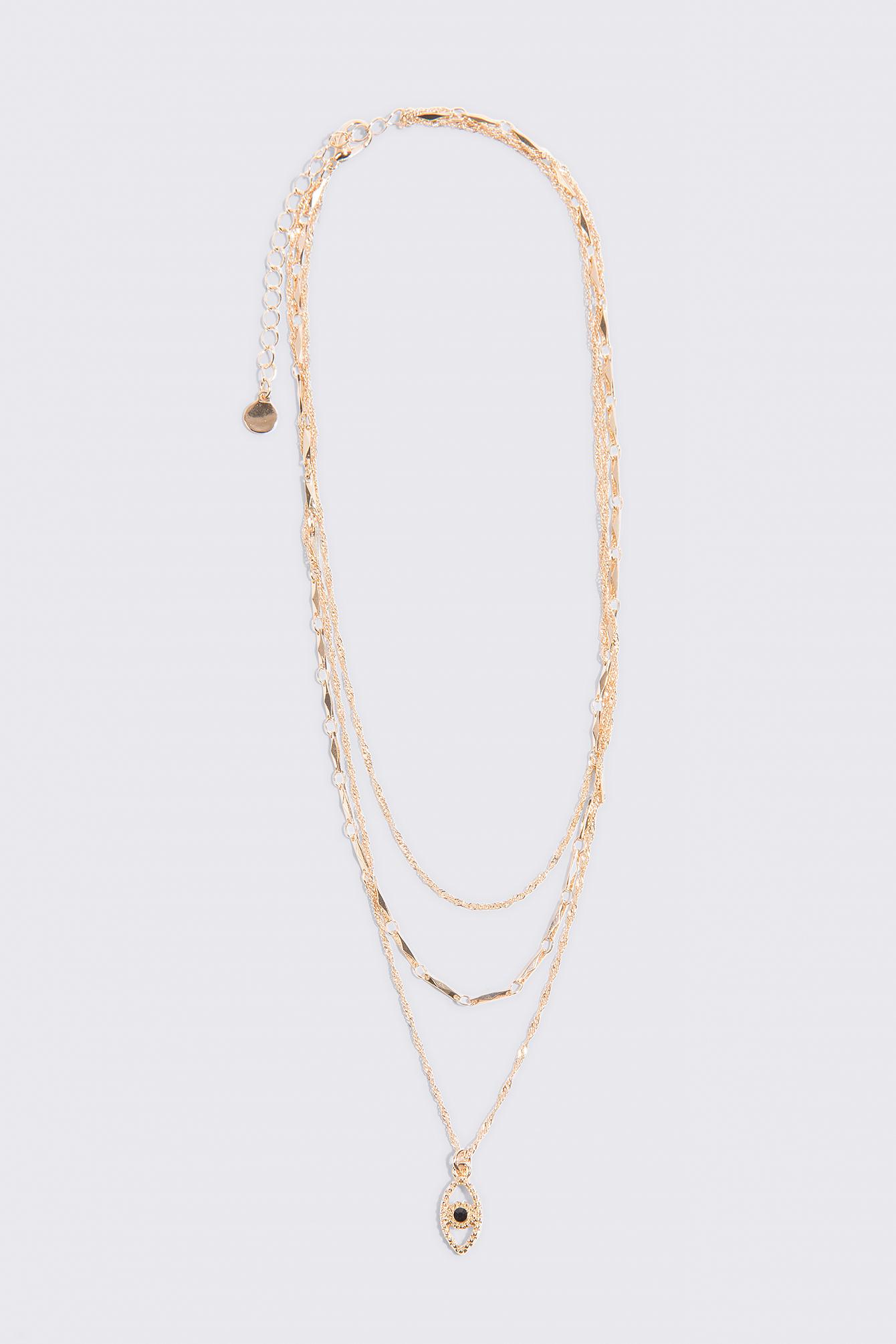 Layered Evil Eye Necklace NA-KD.COM