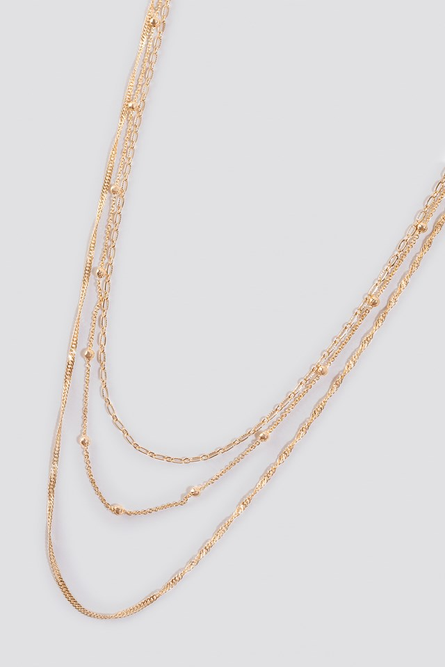 Layered Fine Necklaces Gold