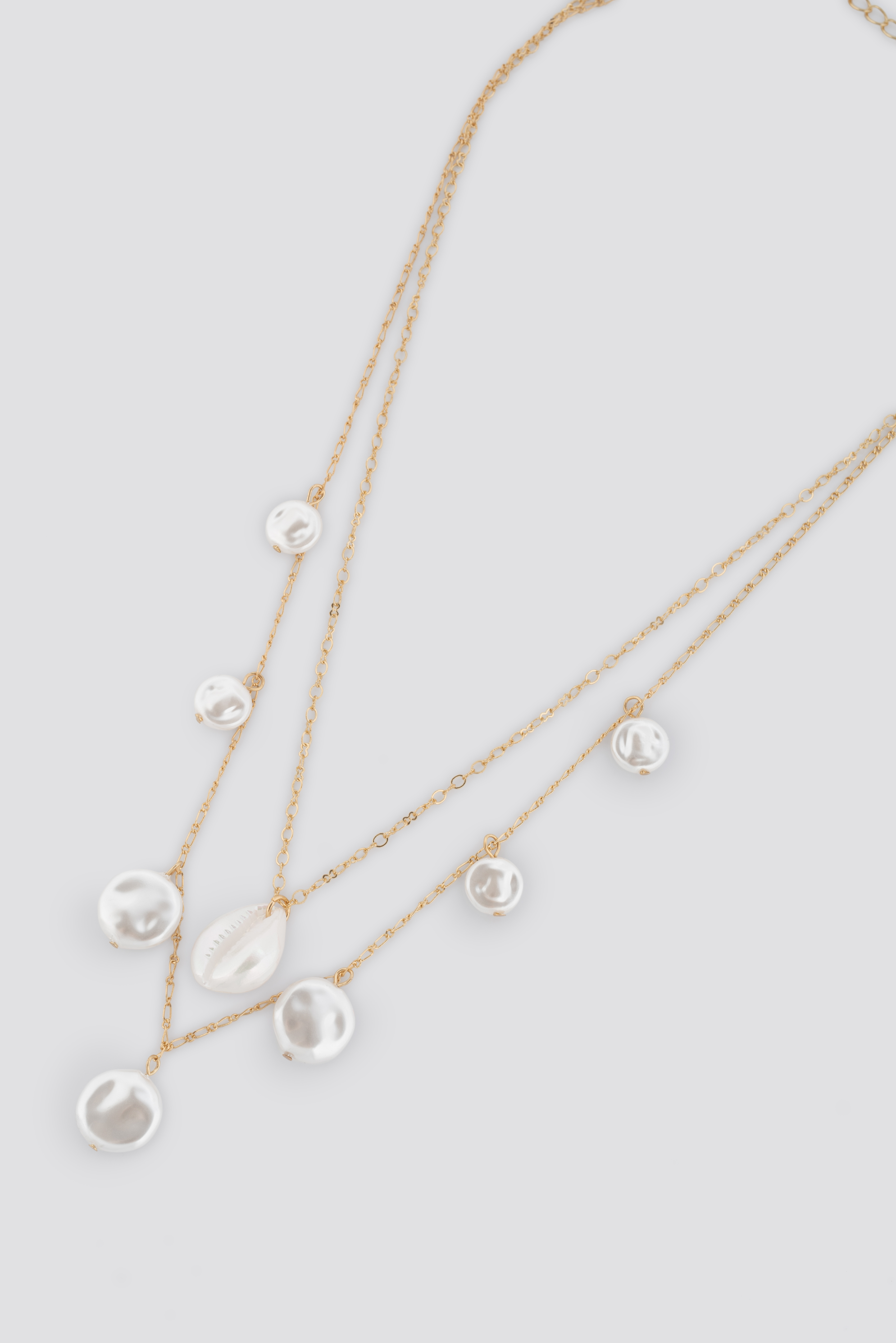 Layered Flat Pearl Necklace NA-KD.COM