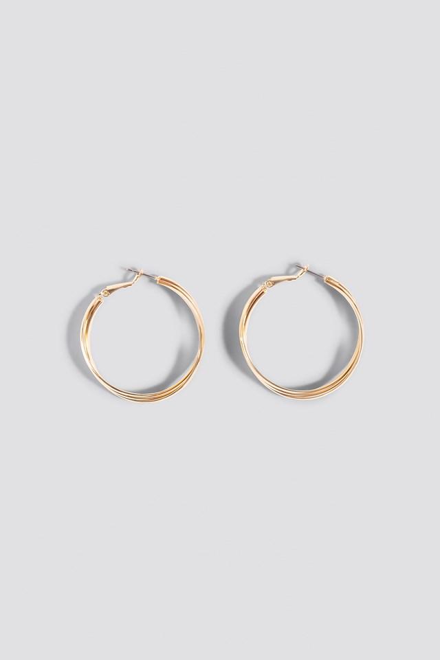 Layered Hoop Earrings Gold