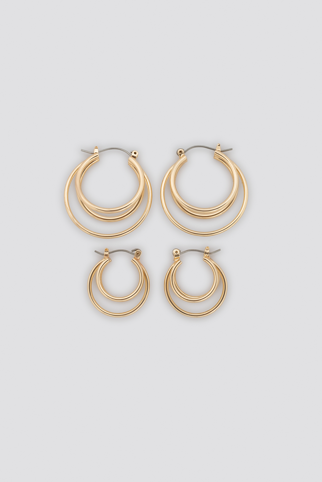 Layered Mini Hoop Earring Set NA-KD.COM