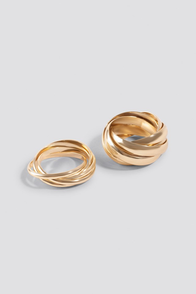 Layered Rings (2-Pack) Gold