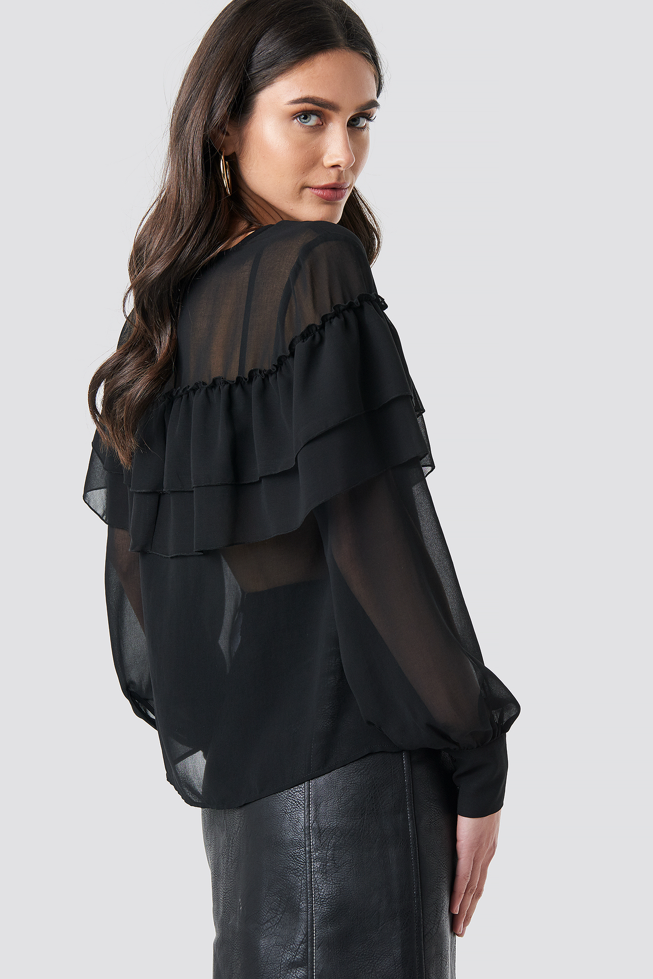 Layered Ruffle Blouse NA-KD.COM