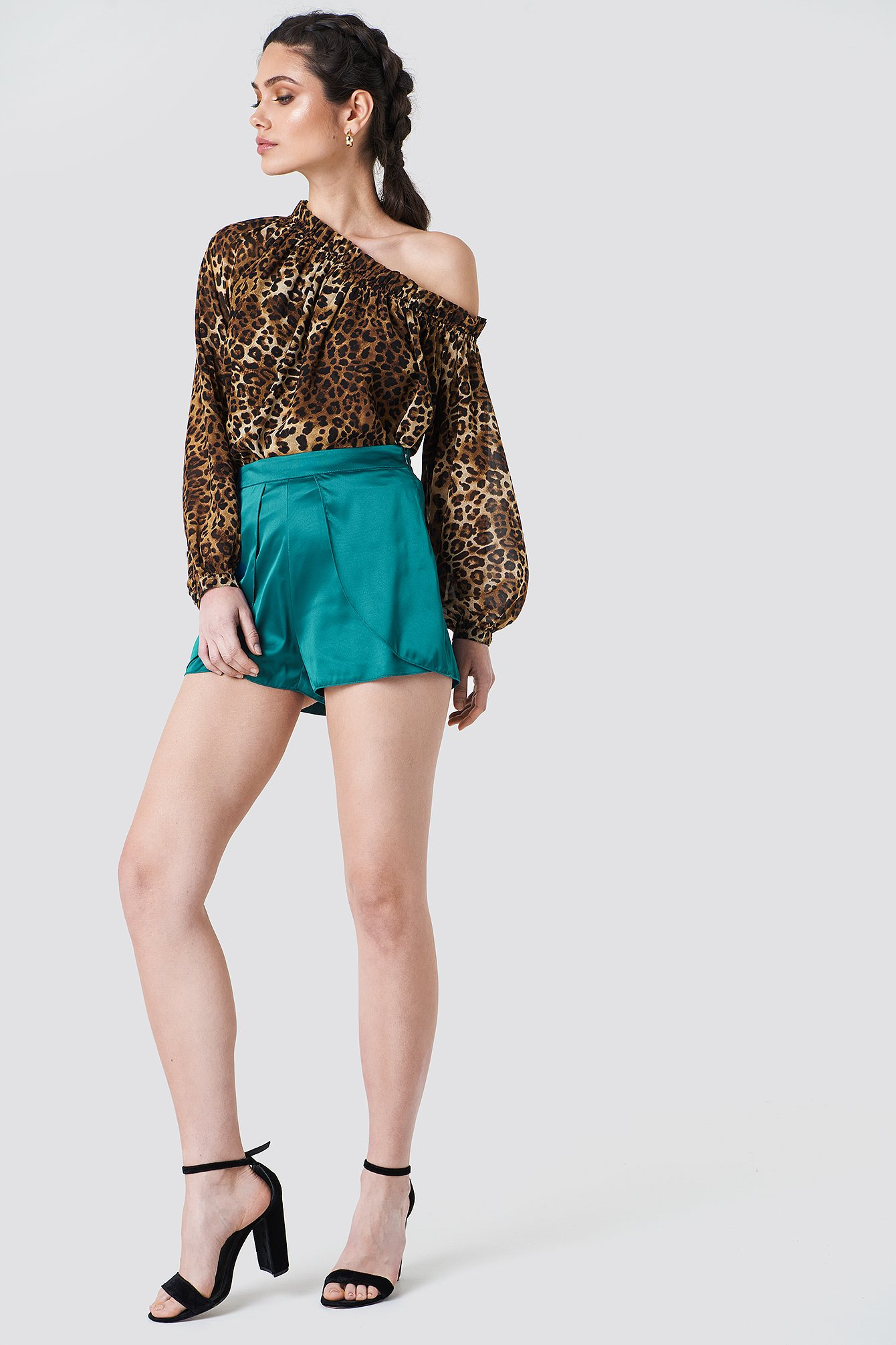 Layered Satin Shorts NA-KD.COM