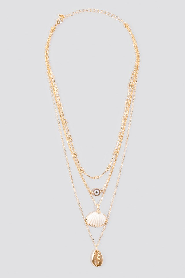 Layered Shell Necklace NA-KD.COM