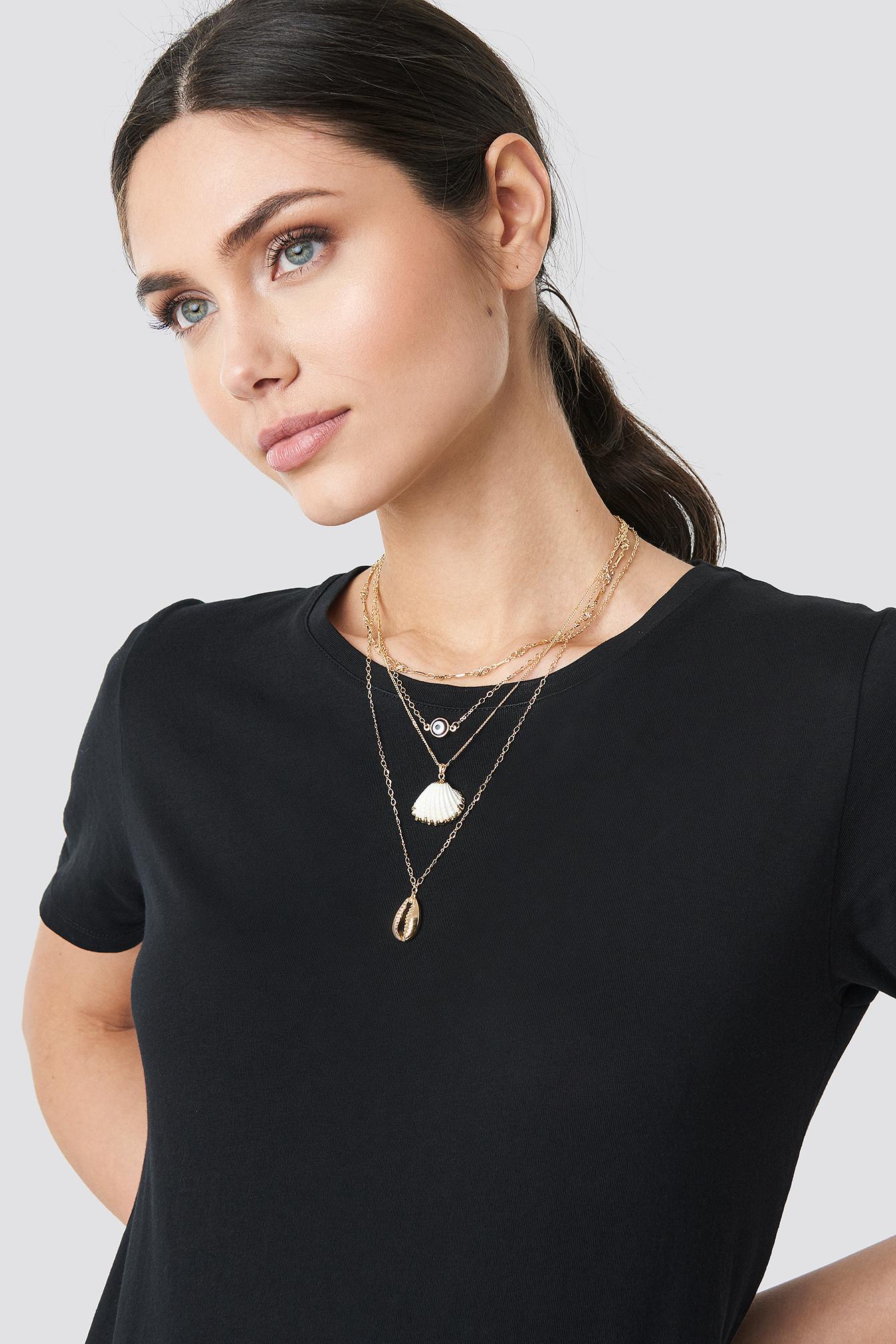 Layered Shell Necklace NA-KD.COM