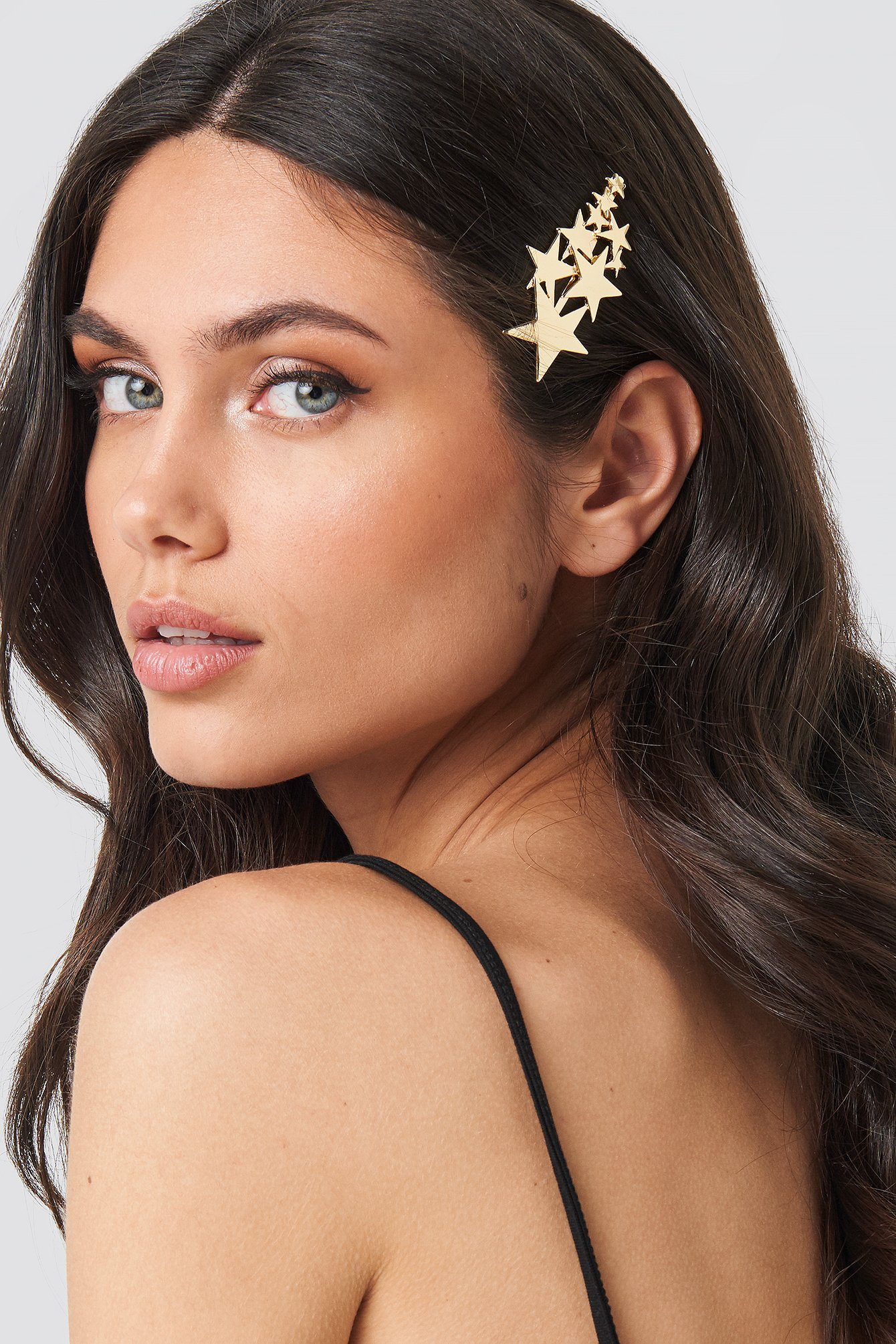 na-kd accessories -  Layered Star Hair Clip - Gold