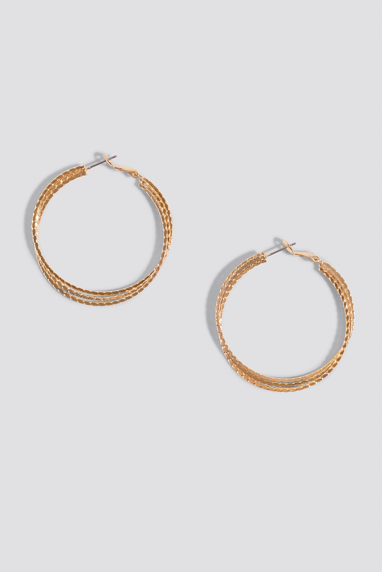 Layered Structured Hoop Earrings NA-KD.COM