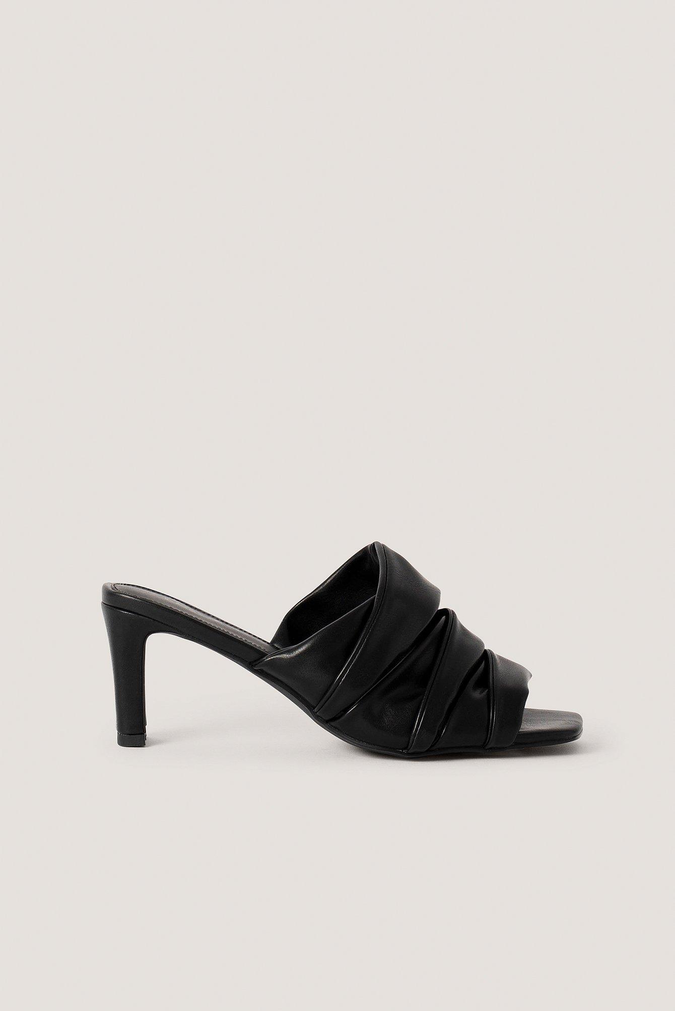 na-kd shoes -  Layered Upper Mules - Black