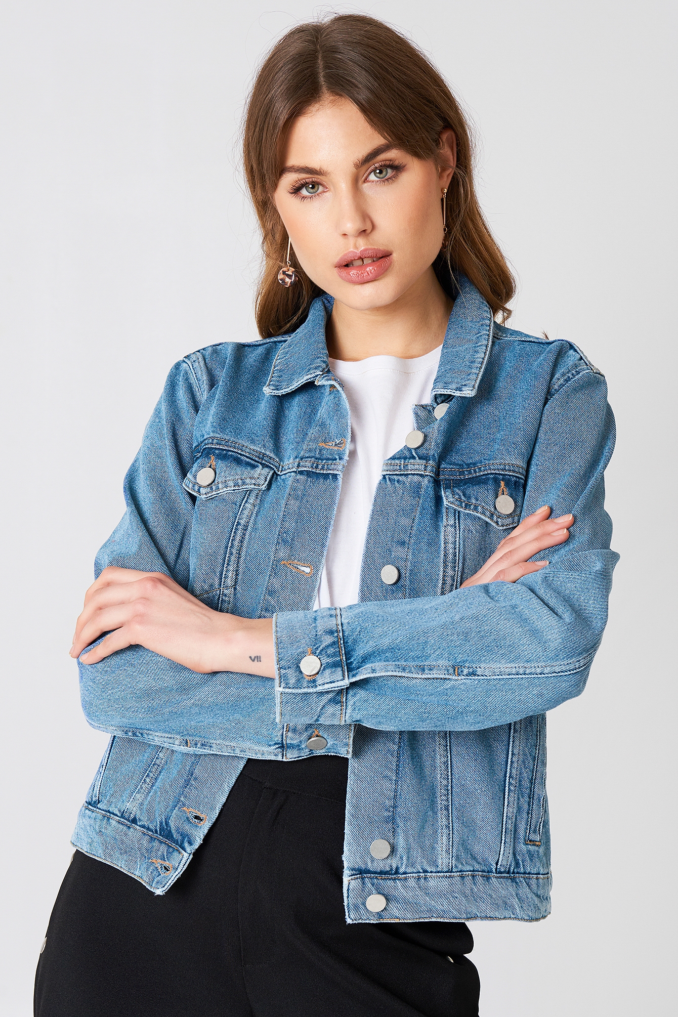 NA-KD Leader Of The Pack Denim Jacket YIc7MLP08y