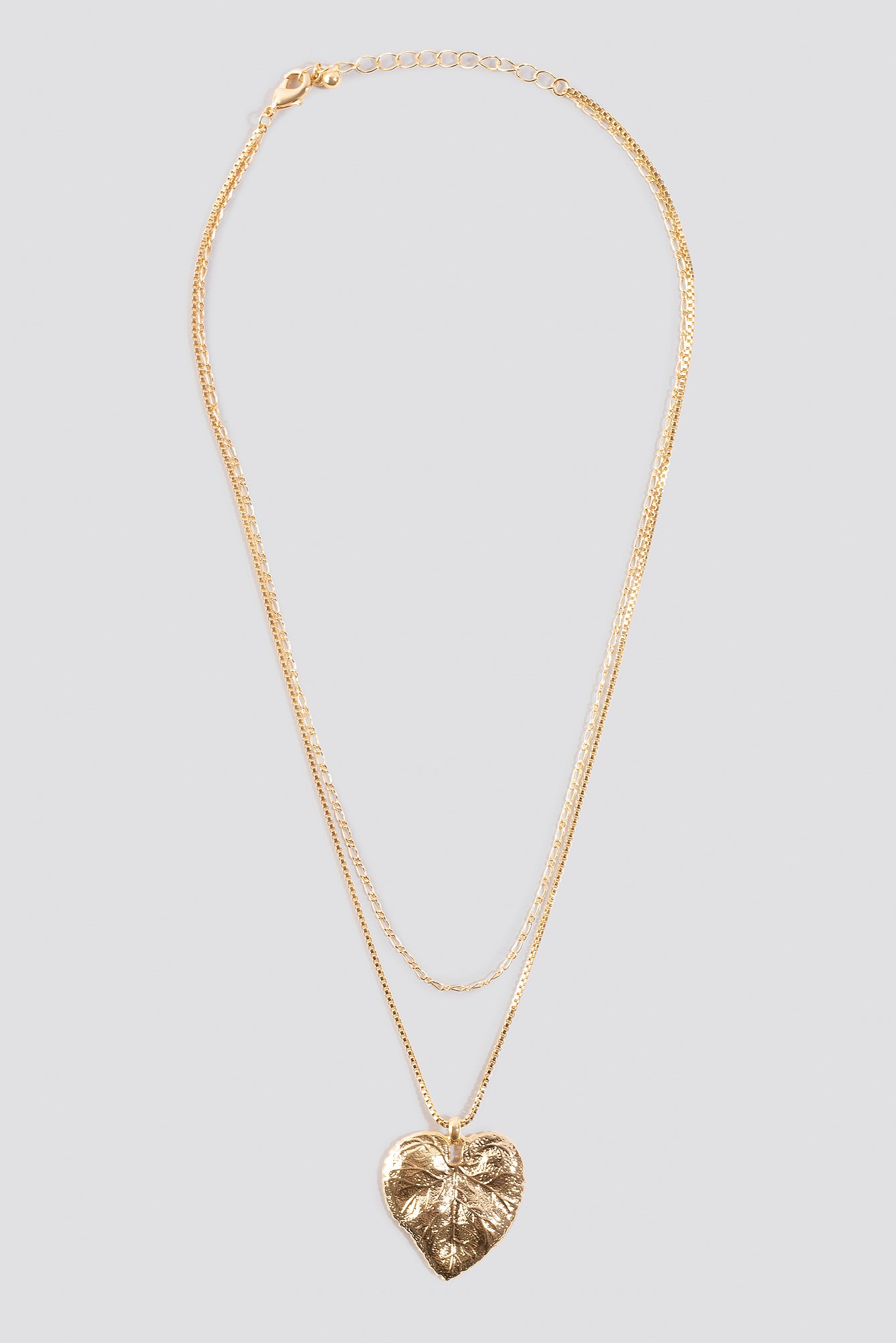 Leaf Pendant Double Necklace NA-KD.COM