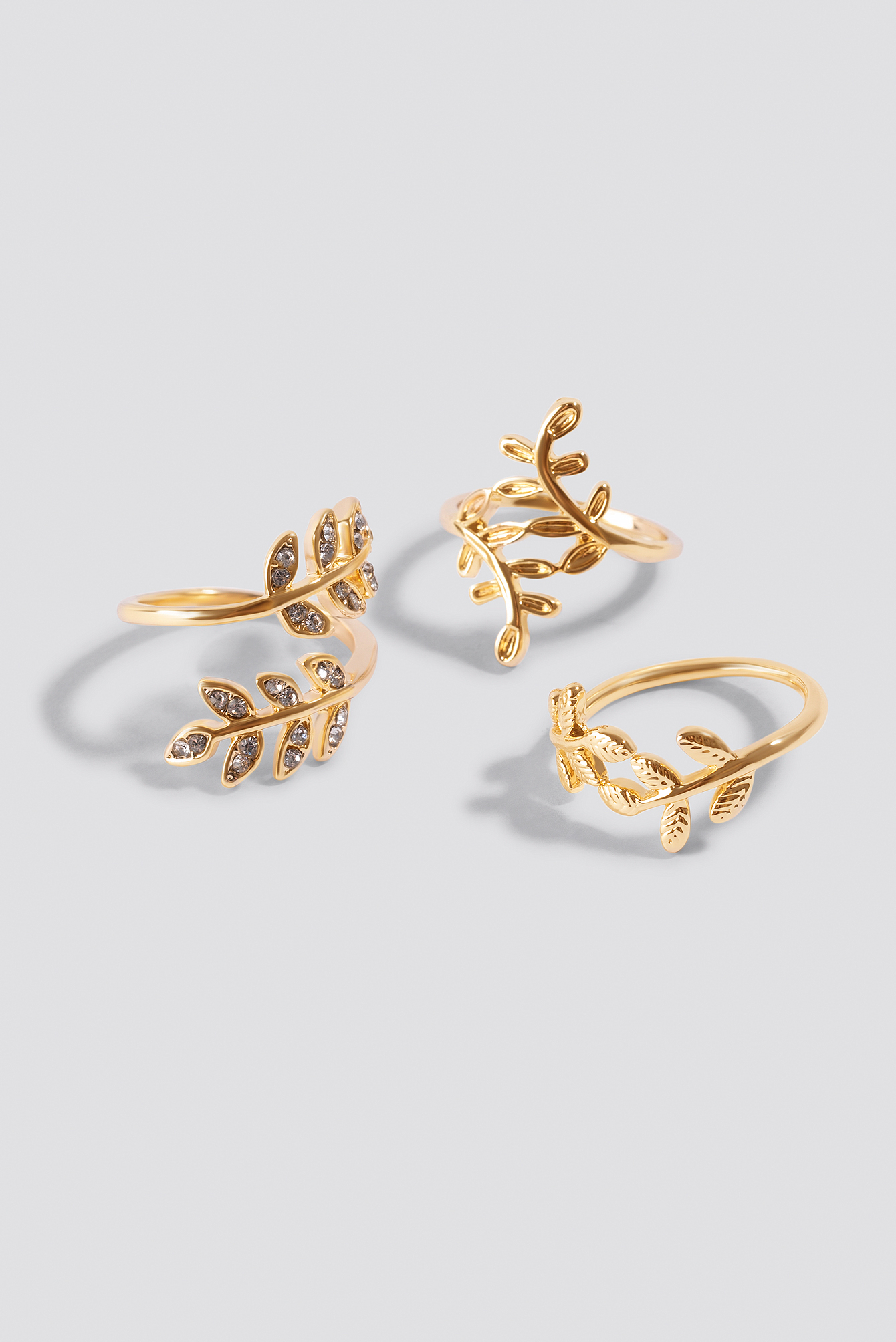 Leaf Rings (3-pack) NA-KD.COM