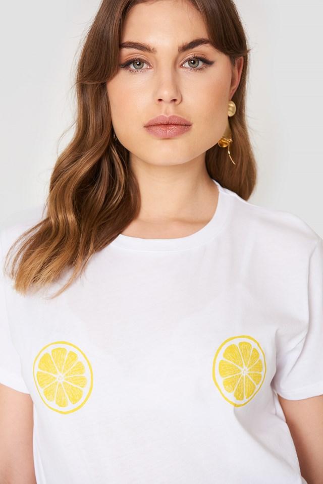 Lemon Slice Tee White