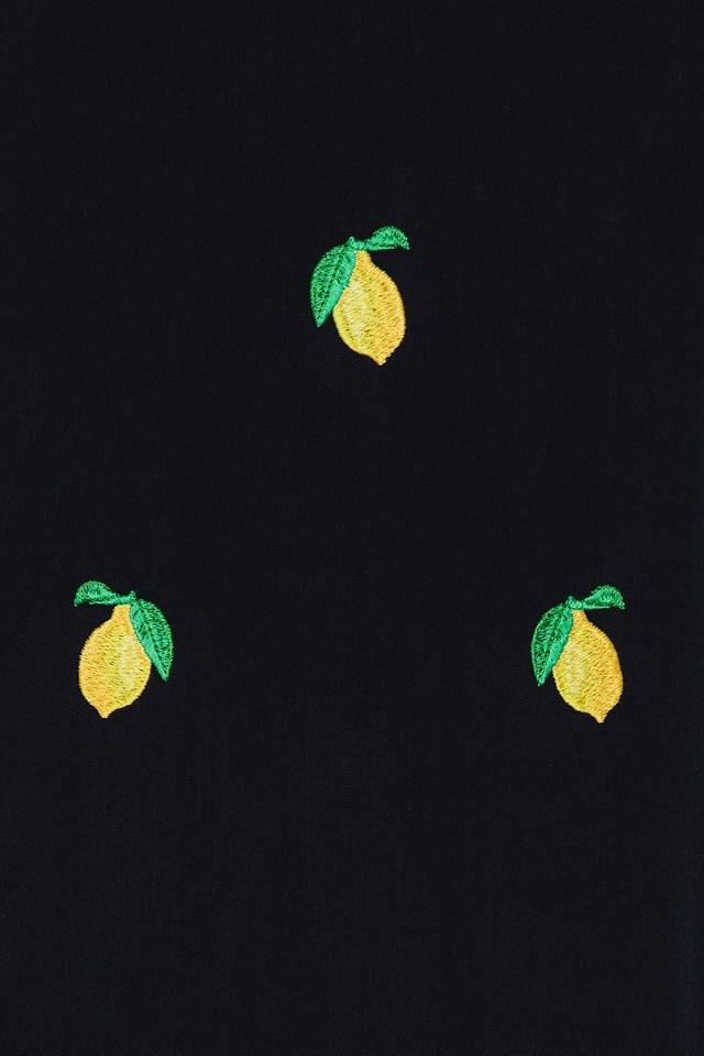 Lemon Slip Dress Black
