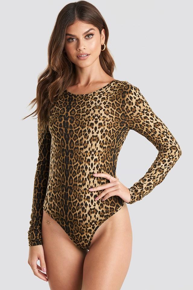 Leo Deep Back Body Leopard