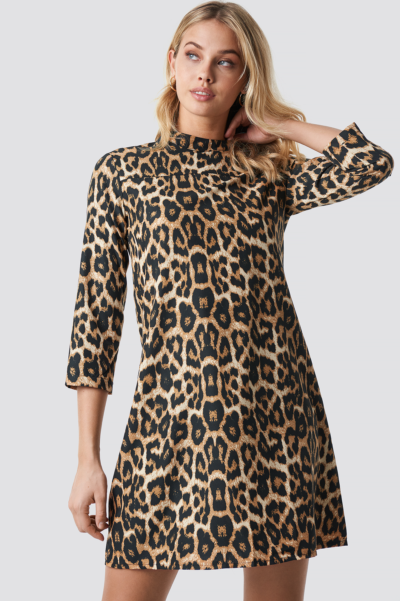 Leo Patterned Midi Dress NA-KD.COM