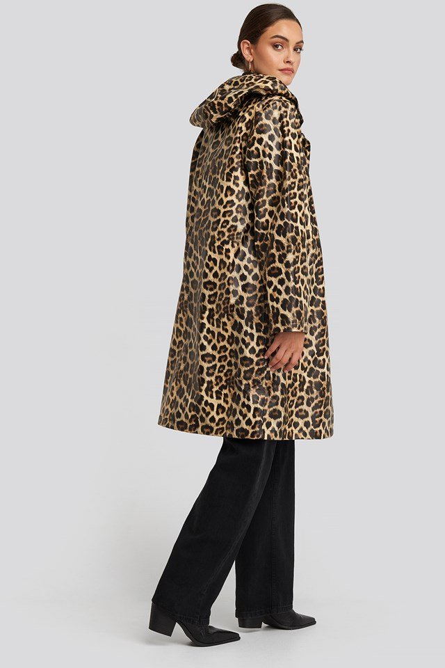 Leo Printed Rain Coat Leoprint