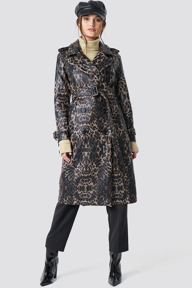 Leopard Belted Coat NA-KD.COM