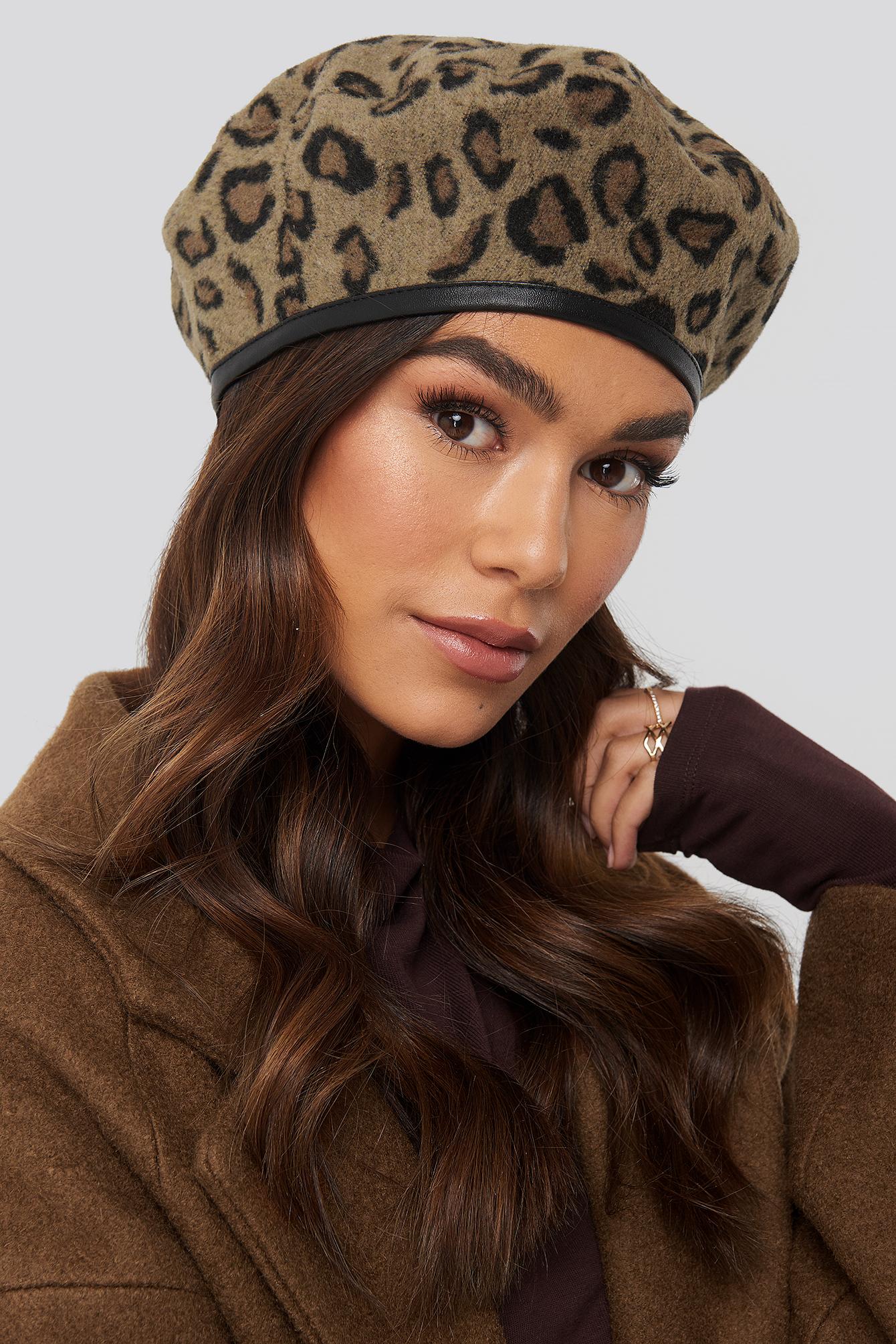 NA-KD Accessories Leopard Beret Hat - Multicolor | Accessoires > Mützen > Sonstige Mützen | NA-KD Accessories
