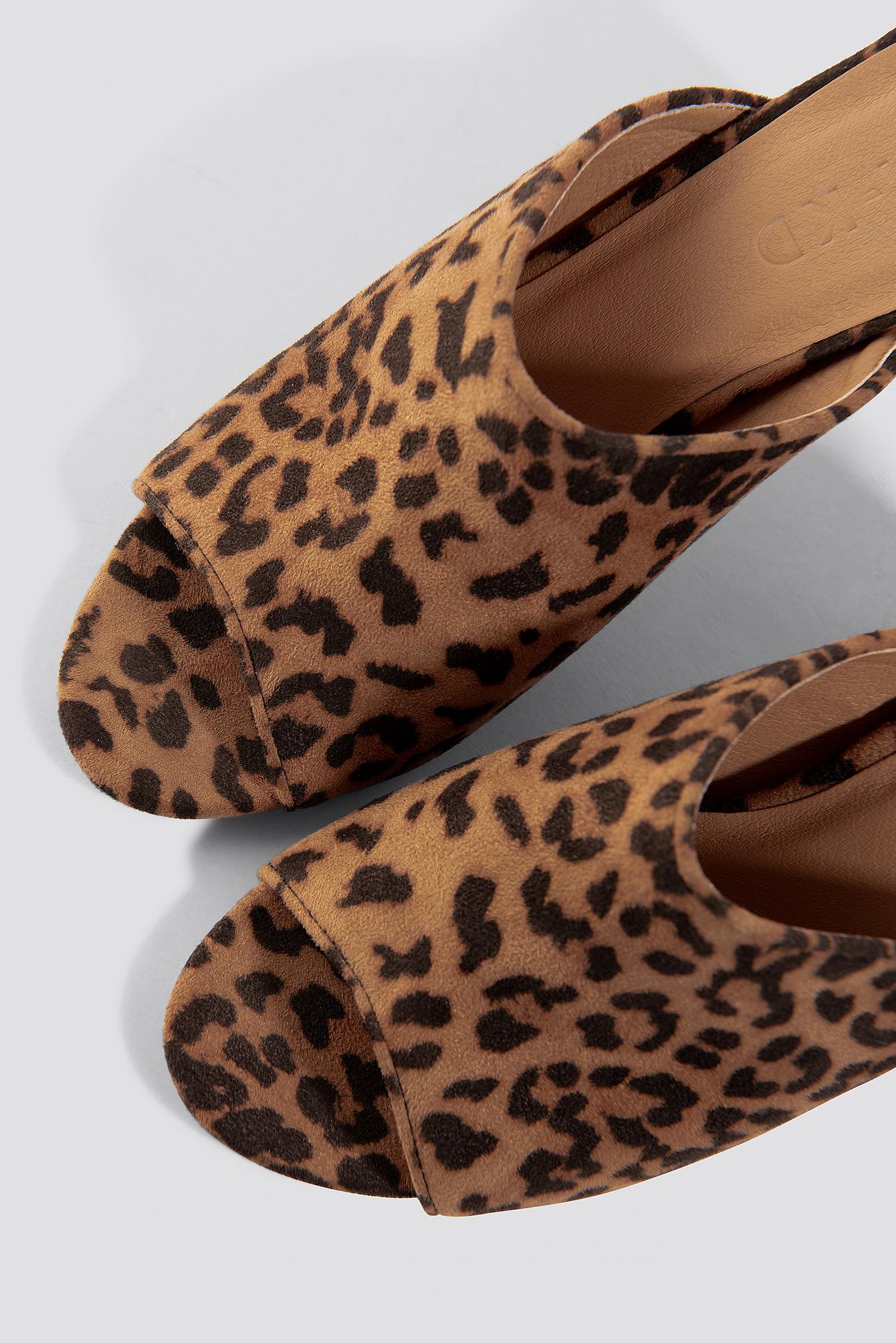 Leopard Block Heel Mules NA-KD.COM