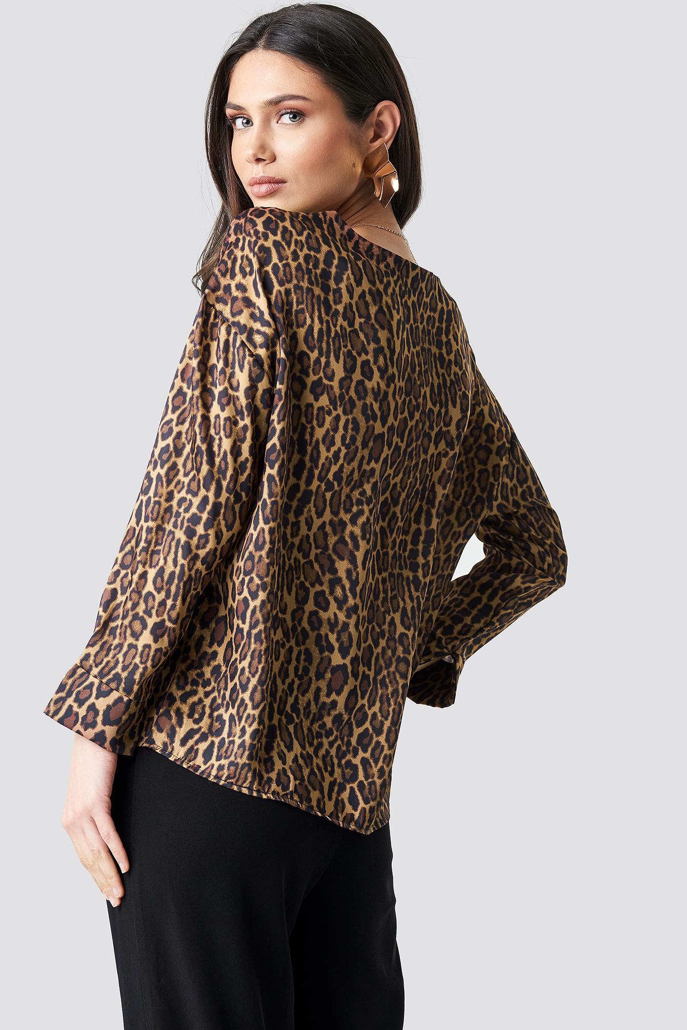 Leopard Blouse NA-KD.COM