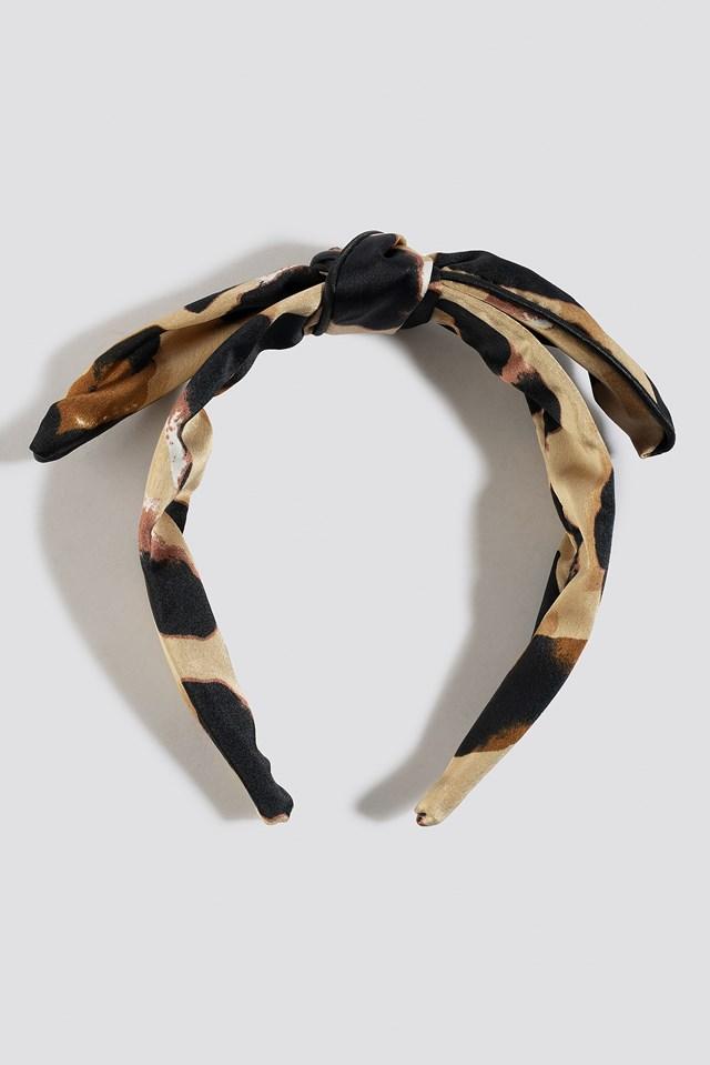 Leopard Bow Hair Hoop Leo