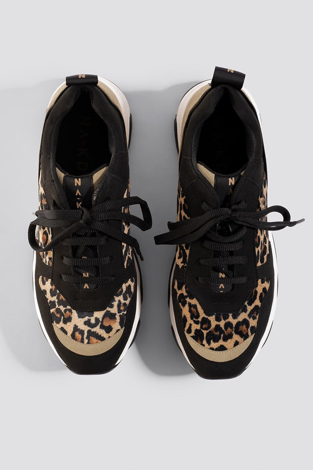Leopard Chunky Trainers Leopard