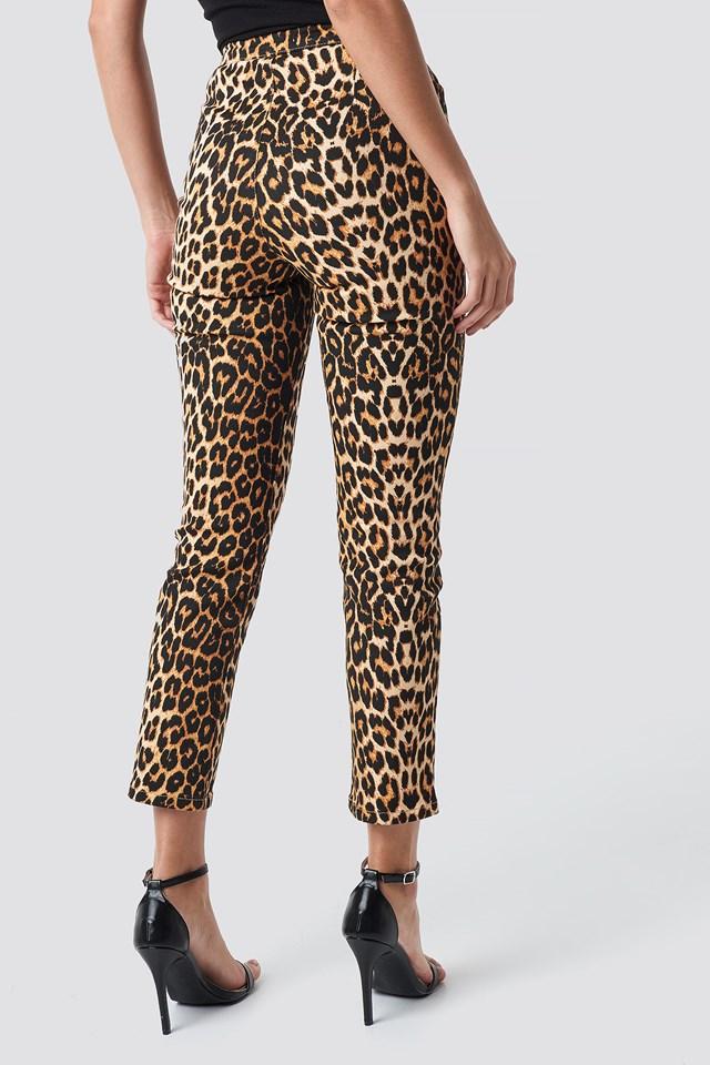 Leopard Denim Pants Leopard