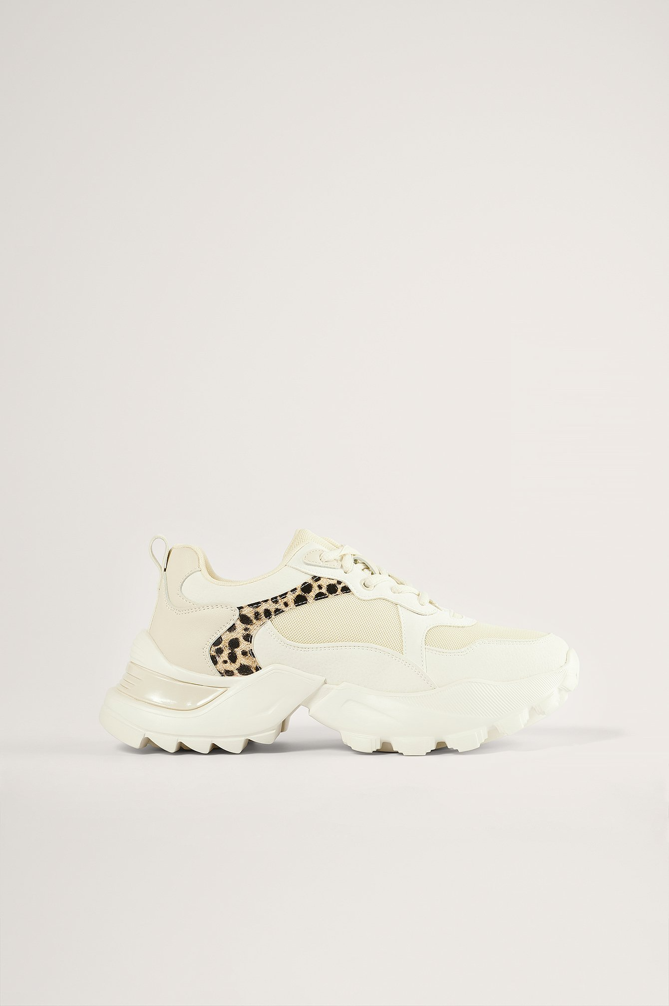 White Leopard Detail Trainers