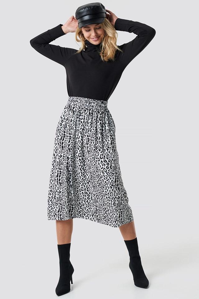 Leopard Midi Skirt NA-KD