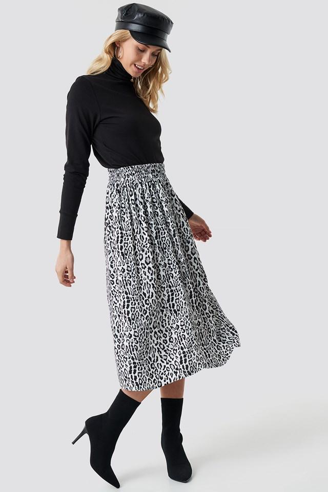 Leopard Midi Skirt NA-KD.COM